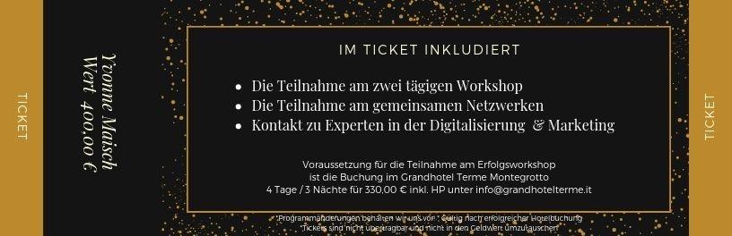 Ticket für den Erfolgsworkshop